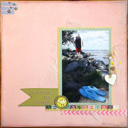 Dilorf has made an layout using Basic Greys RSVP for Scrap-Perra