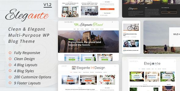 Elegante - Clean & Elegant Multi-Purpose WordPress Blog Theme