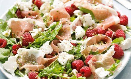 Hugh Fearnley-Whittingstall's salad of raspberries, ricotta and air-dried ham