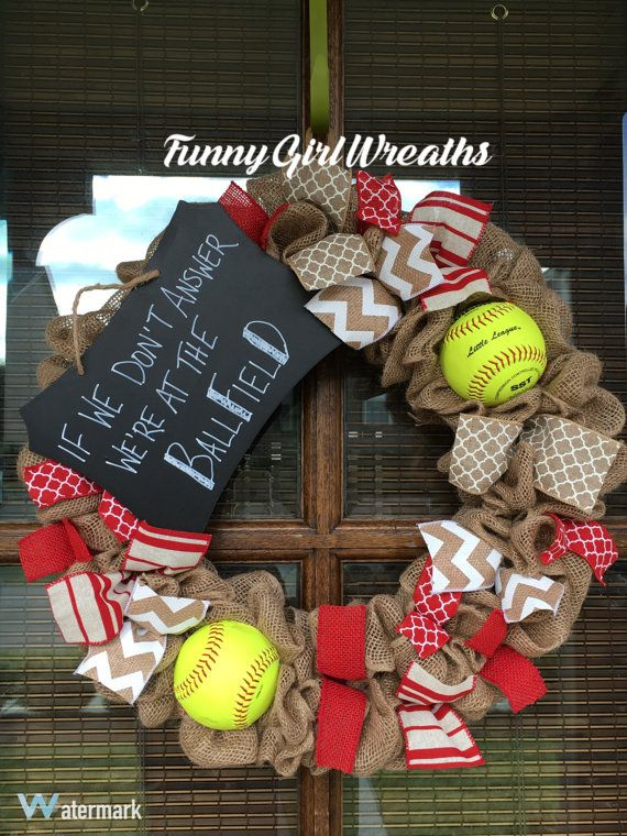If We Don39t Answer We39re At The Ballfield Need This Baseball Wreath