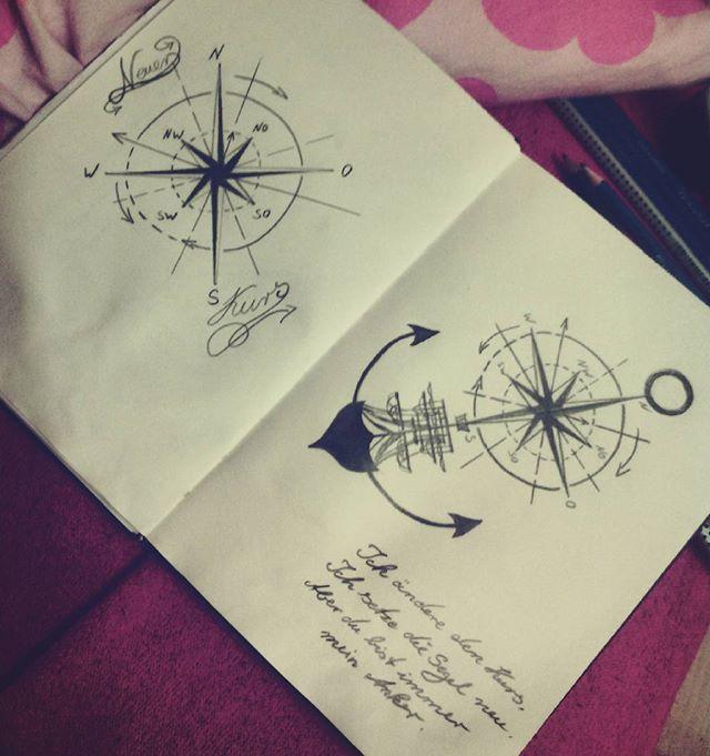 Ich ändere den Kurs, Ich setze die Segel neu, Aber du bist immer mein Anker.  #neuerkurs #dubistmeinanker #schiffundanker #art