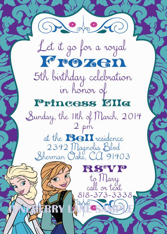 98 best Frozen images on Pinterest Olaf party, Birthday party - invitation birthday frozen