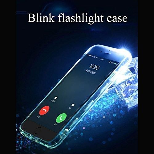 phone CaseColorful blink Flashlight case / Soft TPU Skin / Shell Transparent LED Incoming Call LED Blink Flashlight Case for iPhone 6 /iphone 6s/iphone SE/S7 edge (Iphone6/6s-Colorful)