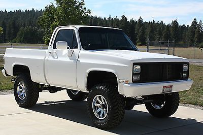 1984 chevy 350 engine | 1984 CHEVY 4X4 FRAME OFF RESTORED CUSTOM DELUXE SHOW TRUCK 4WD RARE ...