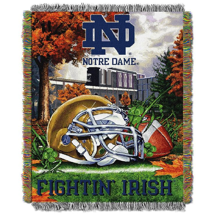 Notre Dame Fighting Irish Tapestry Throw by Northwest, Multicolor