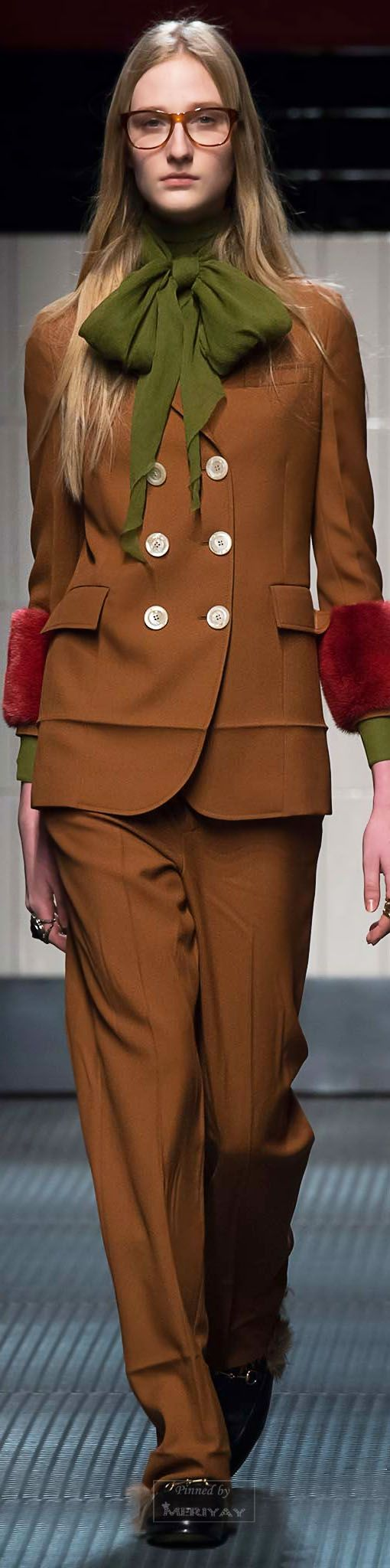 70s are back! Embrace fall colours. Gucci.Fall 2015.