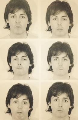 The many faces of Paul McCartney. Just saw him perform with Kanye and Rihanna at the Grammys!