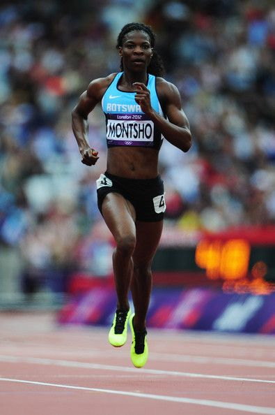 Amantle Montsho of Botswana competes in the Women's 400m Heats on Day 7 of the London 2012 Olympic Games at Olympic Stadium on August 3, 2012 in London, England.