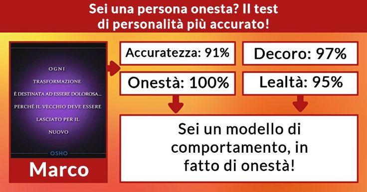 Sei una persona onesta? Il test di personalità più accurato!