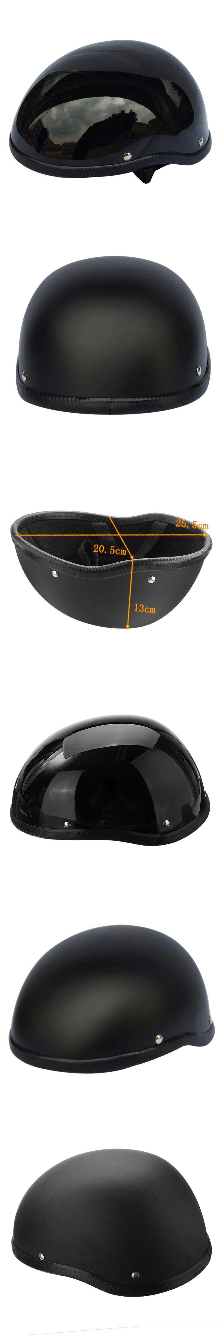 Half Helmet 57-62cm For Skate Bicycle Motorcycle Skateboard Helm Motorcross Capacete Retro Matte Black ABS Plastic For Men Women