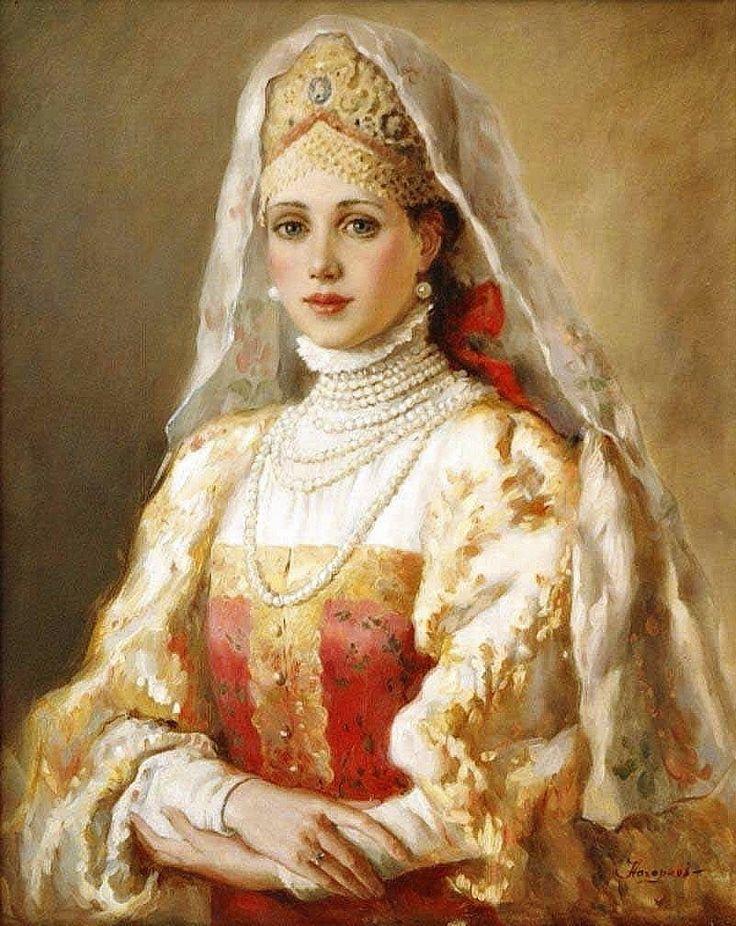 Русские красавицы художника Владислава Нагорного