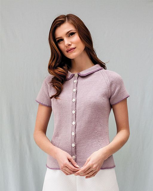 Ravelry: #16 Contrast Edge Cardigan pattern by Debbie Bliss