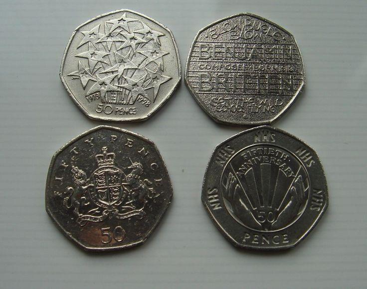 50p coins Fifty pence x 4 NHS Presidency EU  Benjamin Britten  Ironside £6.99 or Best Offer Ebay uk item No 263034150418