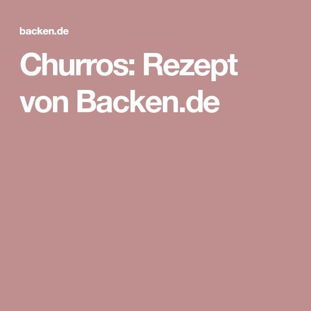 Churros: Rezept von Backen.de