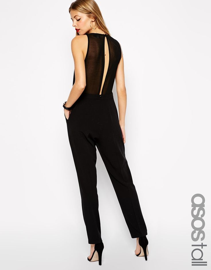 NYE jumpsuit with racerback add statement chain or necklace.