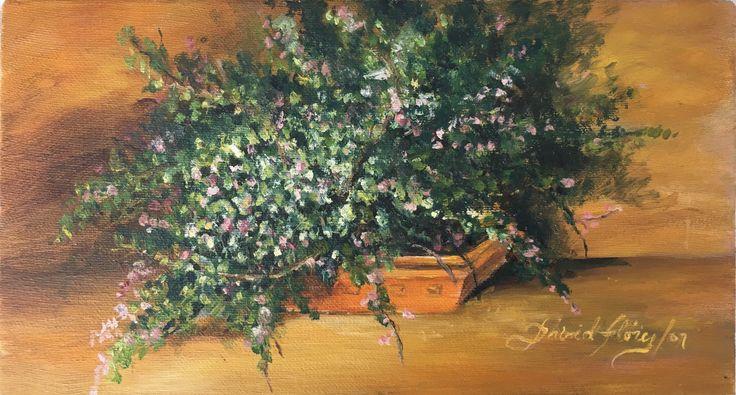 """De mi jardín"" (From my garden). 2007. 35x13.7cm. Oil on canvas."