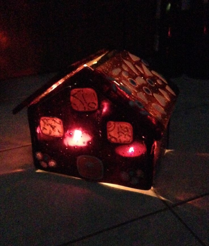 My first glass house; candle house, Murano glass 😊