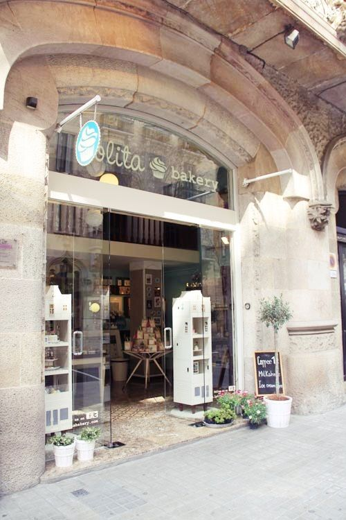 """Lolita Bakery"" in Barcelona, just next to the Pedrera, Gaudi's second most popular building in the city.  From Letizia Barcelona"