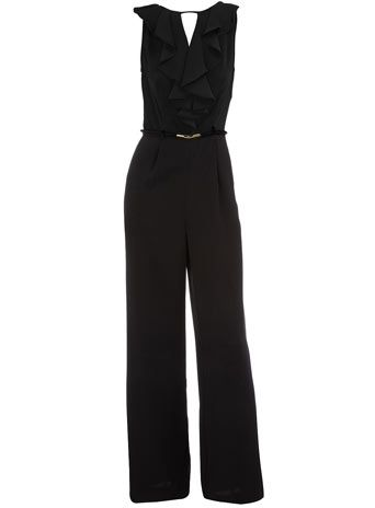 Dorothy Perkins  Black belted jumpsuit. If I worked in an office setting, I would totally wear this to work with a cute cardigan. *sigh*
