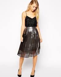 Resultado de imagen para falda plisada metalizada