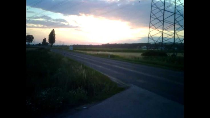 Sunset in the countryside timelapse