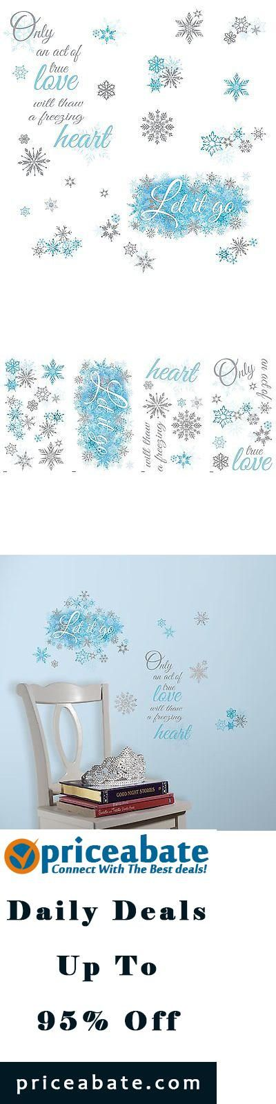 #Priceabate FROZEN LET IT GO Quote Wall Decals Snowflakes Disney Phrase Room Decor Stickers - Buy This Item Now For Only: $15.99
