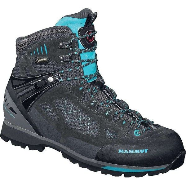 Mammut Women's Ridge High GTX Boot featuring polyvore, women's fashion, shoes, boots, mammut boots, patent leather boots, patent boots, lacing boots and patent lace up boots