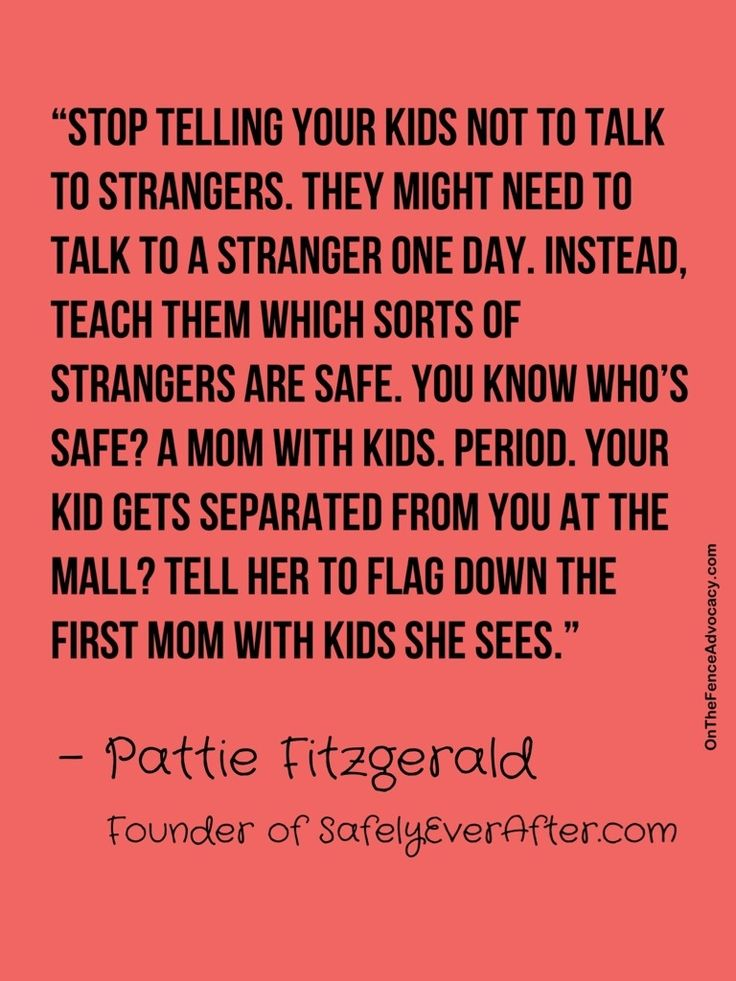 "Child safety and how you should teach your kids about tricky people. ""Tricky"" is the new ""stranger"" term."