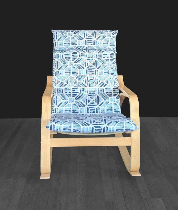Aztech Blue Indigo Blue Ikea Poang Chair Cover Slipcovers For