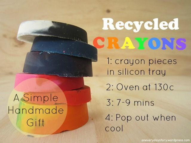 A Simple Handmade Gift: Recycled Crayons