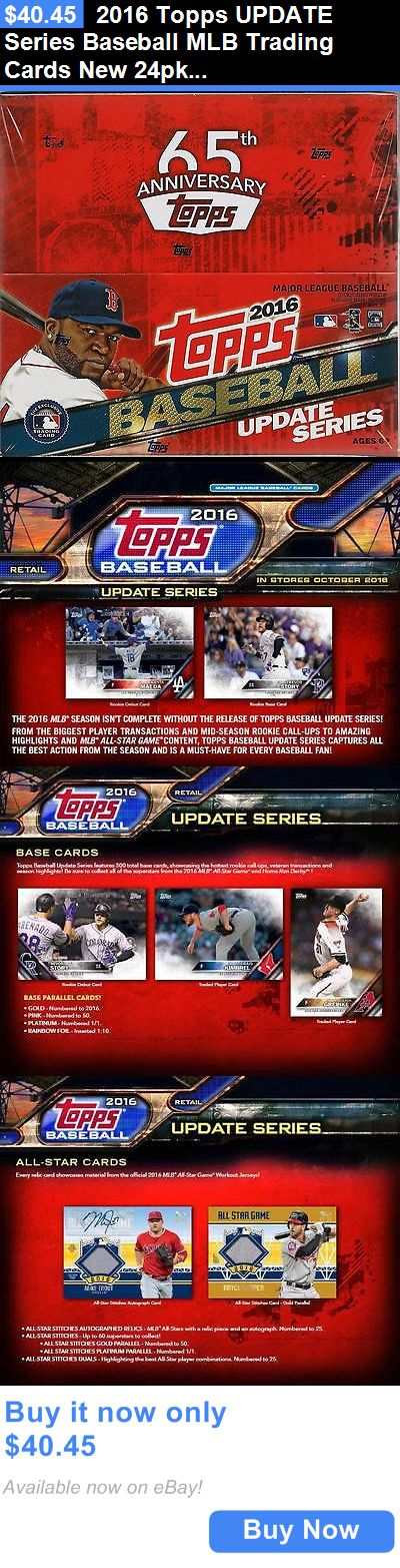 Sports Memorabilia: 2016 Topps Update Series Baseball Mlb Trading Cards New 24Pk Display Box BUY IT NOW ONLY: $40.45