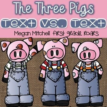 This unit provides reading and writing activities to go along with different versions of The Three Little Pigs. There is fiction and non-fiction text activities as well as two mini books and 3 crafts! Definitely a week's worth of fun!The Three Pigs by MarshallPredictingRecallCharacter TraitsMain Idea & DetailsRetelling: WritingThe True Story of the Three Pigs by ScieszkaAnalyzing TextDesignTrue/FalseCharacter SensesRetellingLetterCompare/Contrast Three Pigs to The True Story: Venn Diagra...