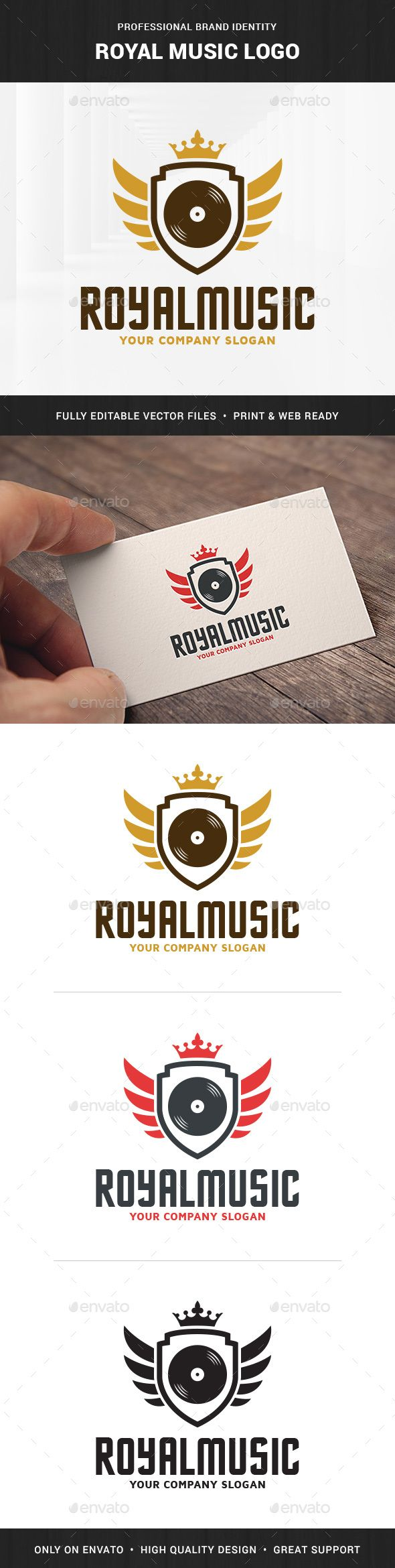 Royal Music Logo   -  PSD Template • Only available here! ➝ https://graphicriver.net/item/royal-music-logo-template/10677888?ref=pxcr