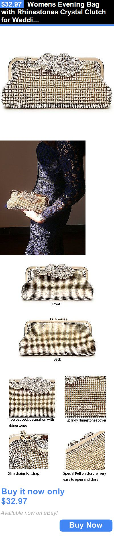 Bridal Handbags And Bags: Womens Evening Bag With Rhinestones Crystal Clutch For Wedding And Party BUY IT NOW ONLY: $32.97