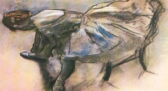 Slippers of Ballerina by Edgar Degas