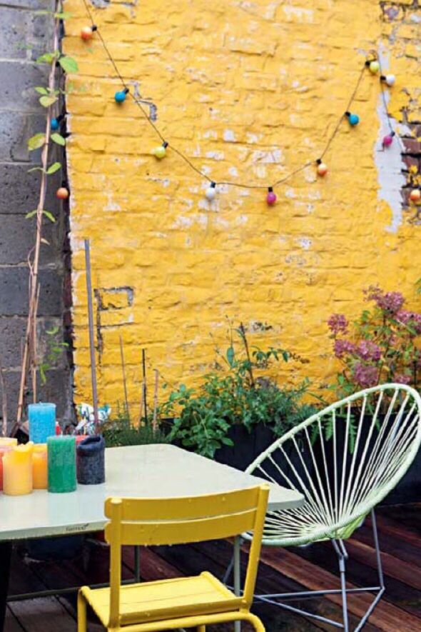 Yellow exterior wall