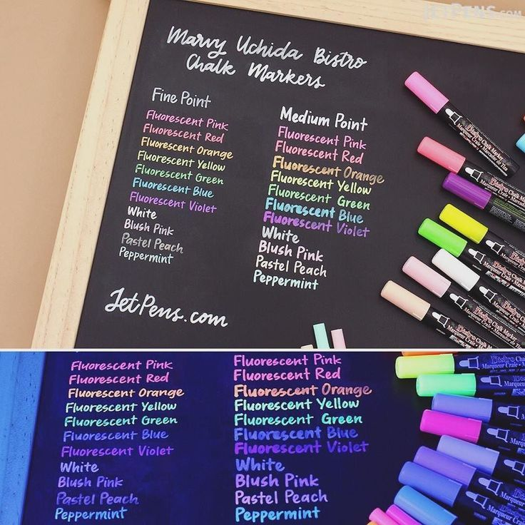 These bright Marvy Uchida Bistro Chalk Markers are fantastic for writing vibrant menus and other signage on whiteboards light boards windows windshields and other non-porous surfaces. They also write on chalkboards! . See them here: http://to.jetpens.com/1WrgH35 . Clickable link in Instagram profile! . #writingsamplewed #instajetpens #marvyuchida #bistrochalkmarker #chalkmarkers #chalkart #artsupplies