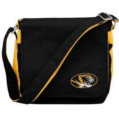 Missouri Tigers Ladies Messenger Bag - Black