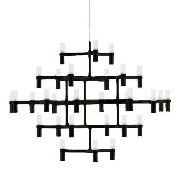 Nemo Cassina crown major hanglamp Designer: Jehs & Laub De Crown Major kroonluchter van Nemo Cassina hangt als een kroon boven je. Ontwerpers Jehs+Laub waren geïnspireerd door M.C. Esher en zijn ...