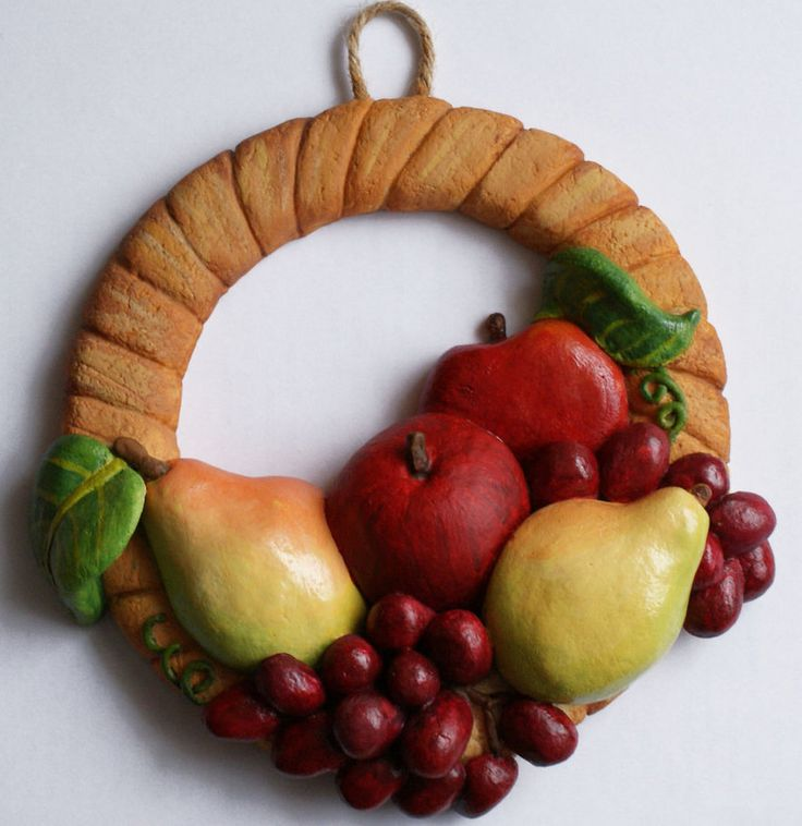 Salt Dough Fruit Wreath