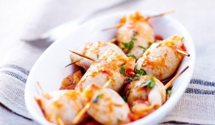 Recette Blancs de calmar farcis - recettes Les plats - Picard