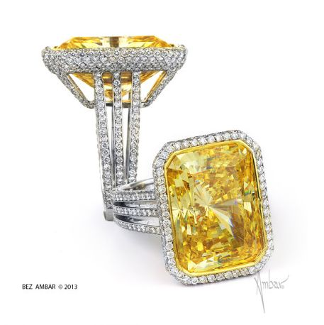Bez Ambar Fancy Yellow Diamond Ring