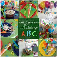 Erster Schultag - Deko, Servietten & Geschenke für die Schultüte
