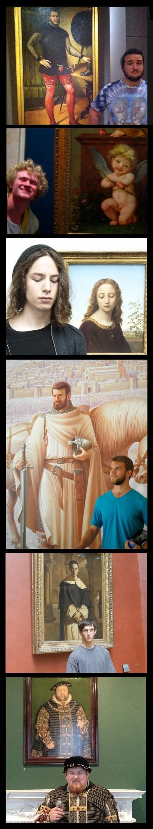 Paintings and their doppelgangers.