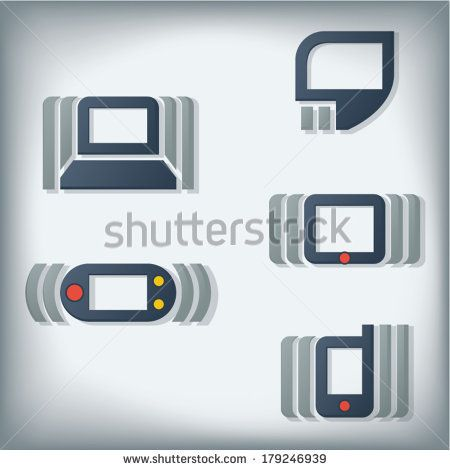 Computer and Mobile Technology Icons by Catharsis Vectorielle, via Shutterstock