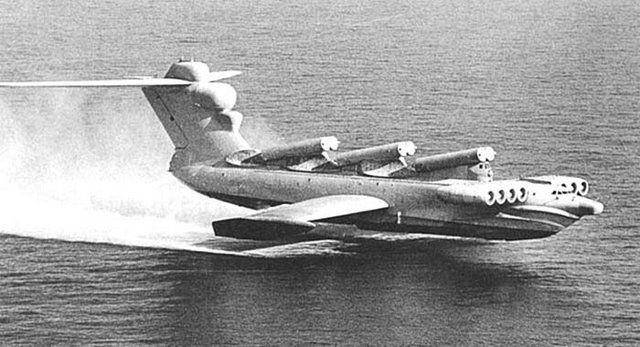 Russia's Caspian Sea Monster-Lun Ekranoplan Aircraft