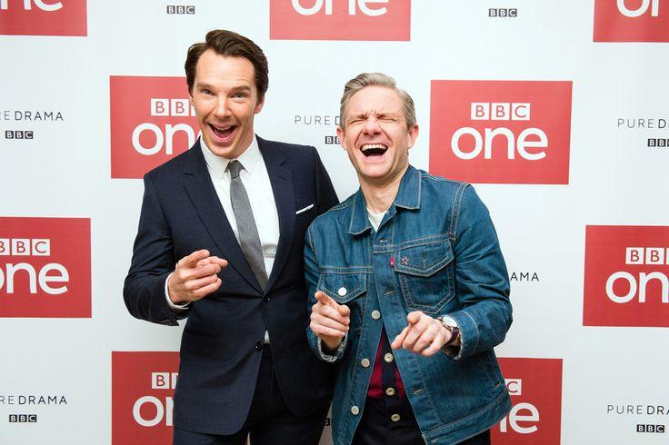 SHERLOCK (BBC) ~ Benedict Cumberbatch & Martin Freeman at Season 4 screening in London. December 19, 2016.