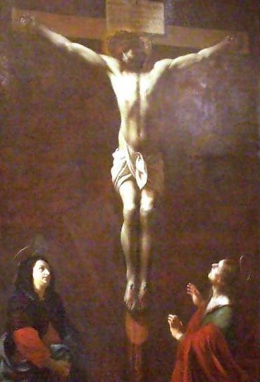 Karel Škréta - Crucifixion (1670) #baroque #art #painting #Czechia