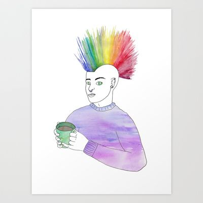 Cosy Anarchy Art Print by Cazzasaurus - $15.00