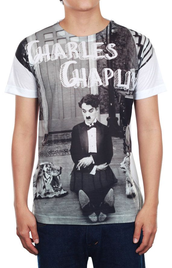 SALE  Charlie Chaplin Shirt Celebrity Vintage Tee by TopCloset, $9.99